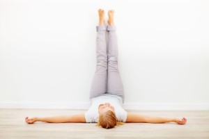 Legs up wall